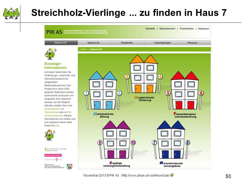 Streichholz-Vierlinge... zu finden in Haus 7 50 November 2013 © PIK AS (http://www.pikas.uni-dortmund.de/)
