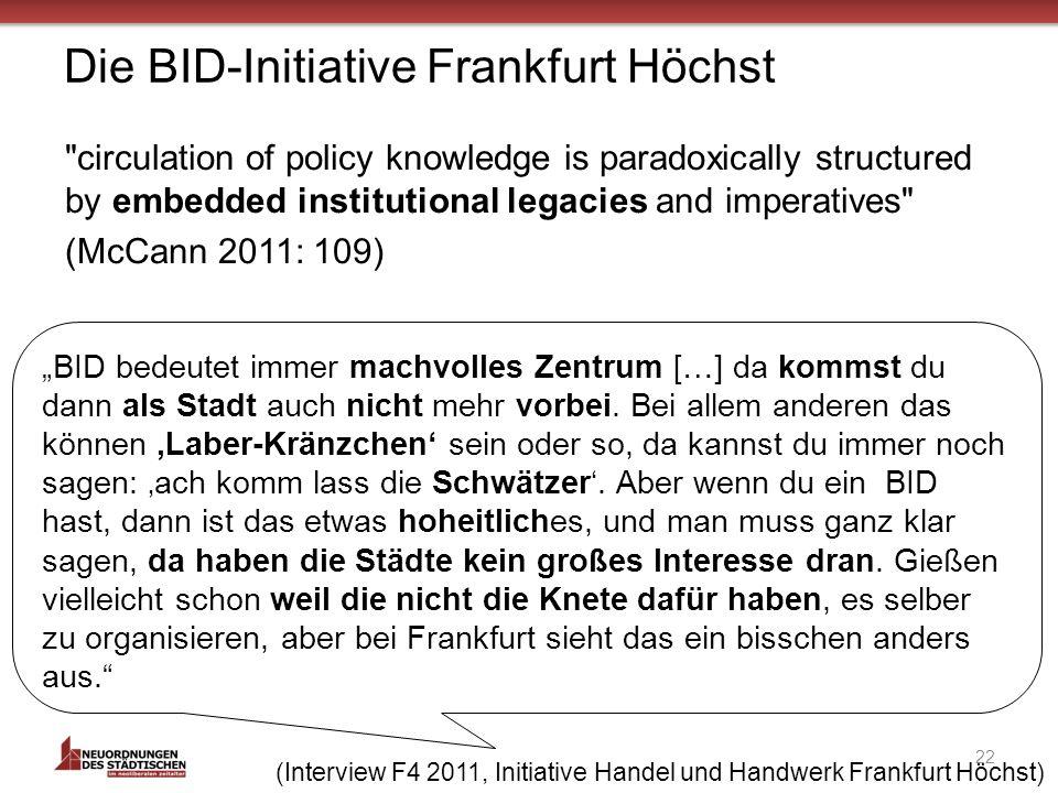 Die BID-Initiative Frankfurt Höchst 22 BID bedeutet immer machvolles Zentrum […] da kommst du dann als Stadt auch nicht mehr vorbei.