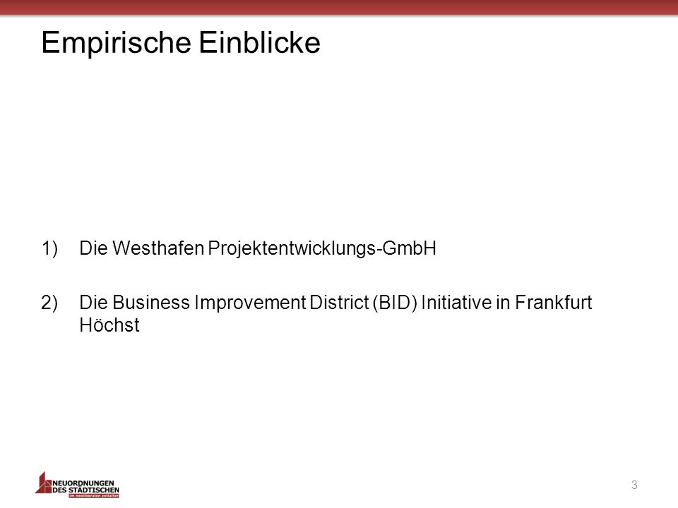 Die BID-Initiative Frankfurt Höchst 24 Stadt Frankfurt a.M.