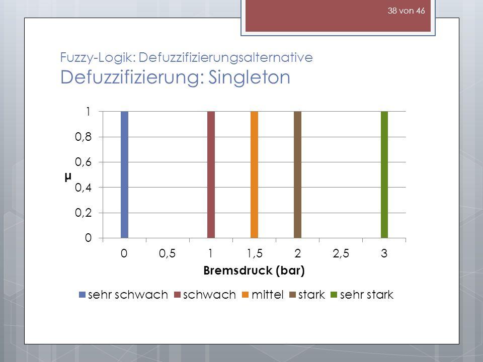Fuzzy-Logik: Defuzzifizierungsalternative Defuzzifizierung: Singleton 38 von 46