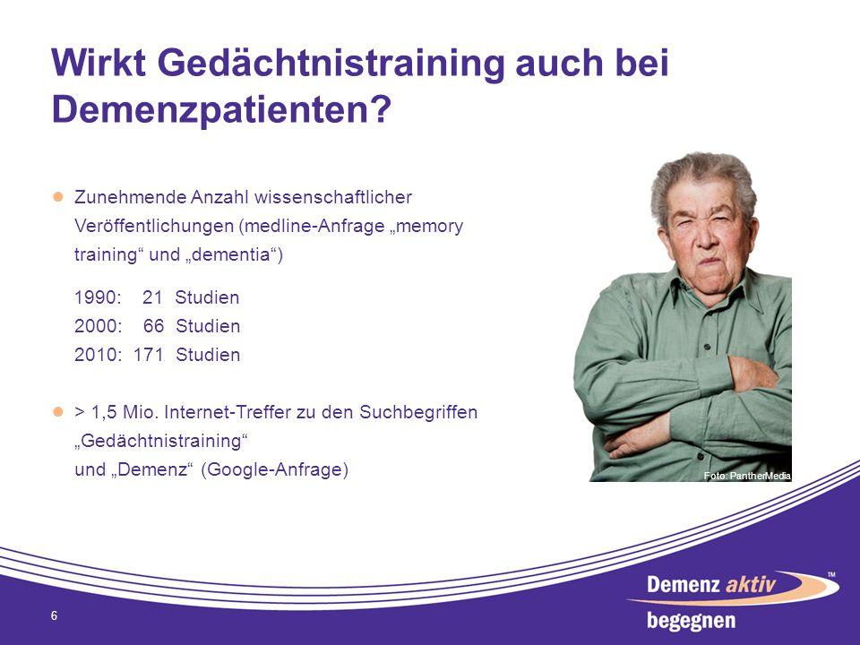 Wirkt Gedächtnistraining auch bei Demenzpatienten? Zunehmende Anzahl wissenschaftlicher Veröffentlichungen (medline-Anfrage memory training und dement