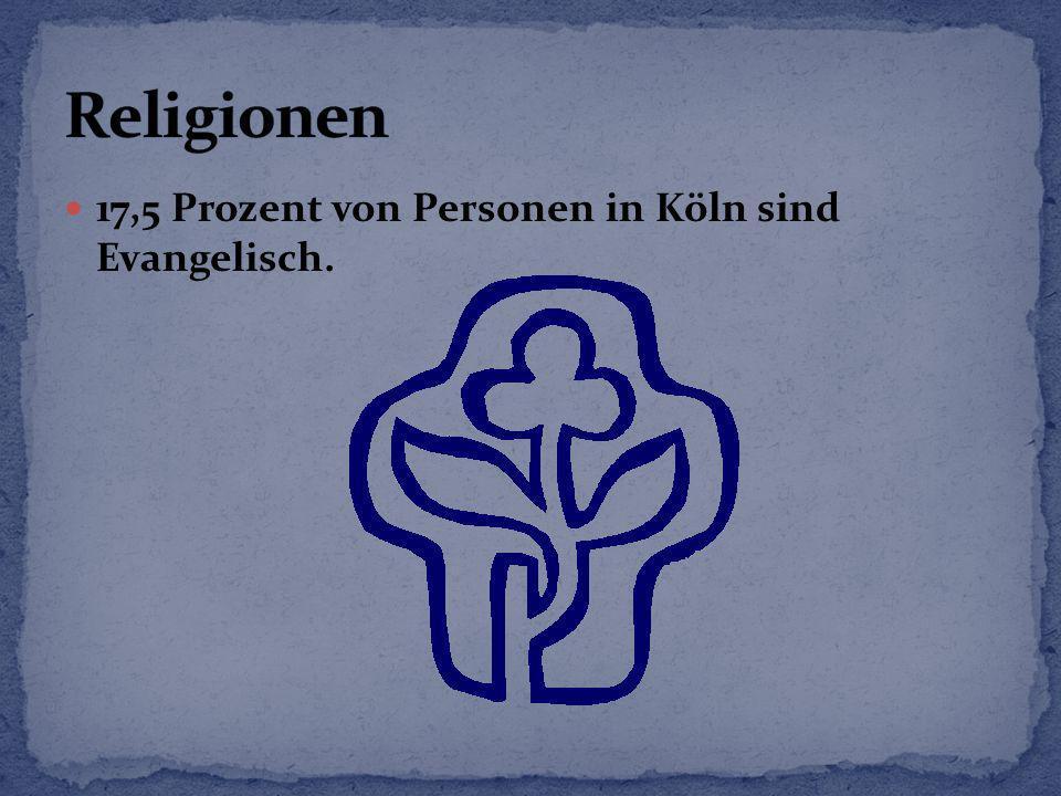 17,5 Prozent von Personen in Köln sind Evangelisch.