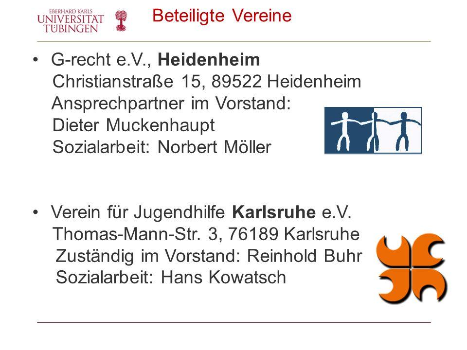 Beteiligte Vereine G-recht e.V., Heidenheim Christianstraße 15, 89522 Heidenheim Ansprechpartner im Vorstand: Dieter Muckenhaupt Sozialarbeit: Norbert