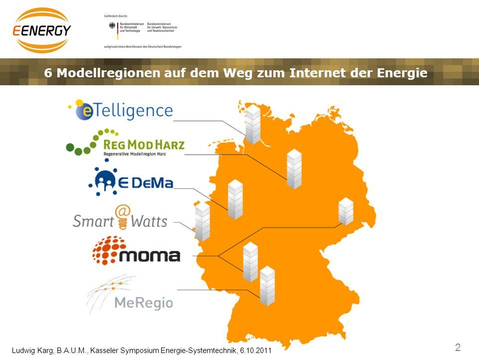 3 Ludwig Karg, B.A.U.M., Kasseler Symposium Energie-Systemtechnik, 6.10.2011 E-Energy Begleitforschung: Das Konsortium B.A.U.M.