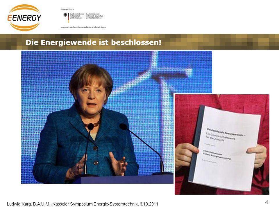 35 Ludwig Karg, B.A.U.M., Kasseler Symposium Energie-Systemtechnik, 6.10.2011 … und die Modellregionen modellieren die neuen Märkte