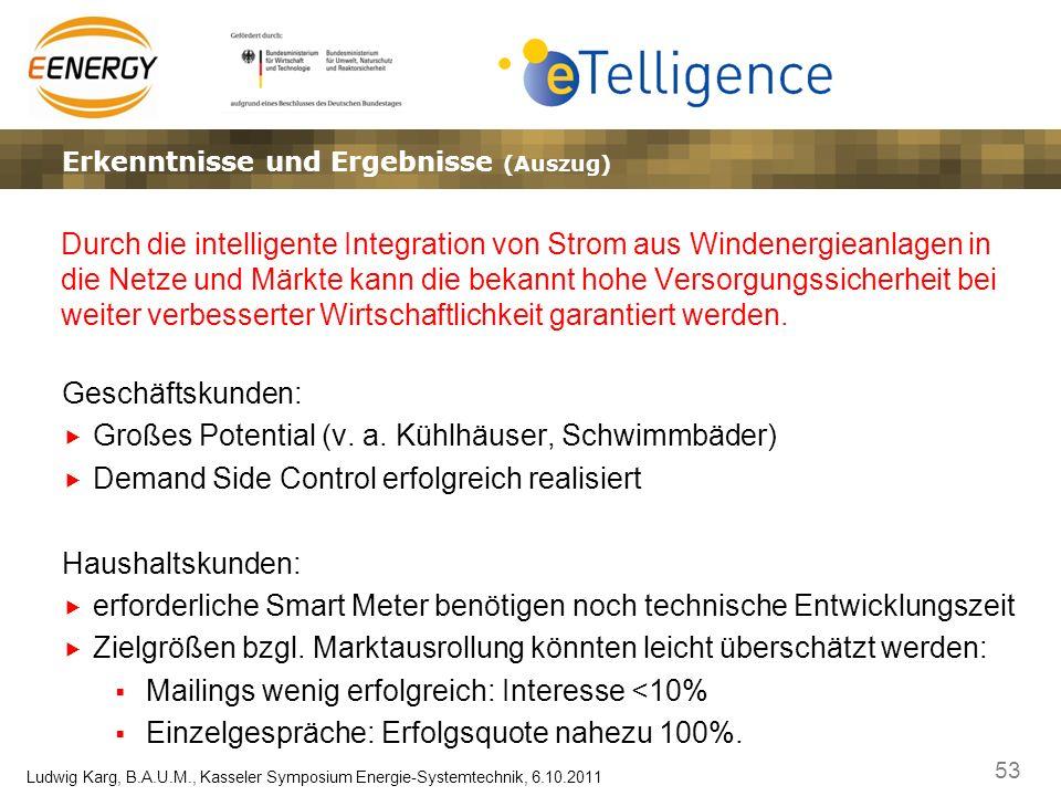 53 Ludwig Karg, B.A.U.M., Kasseler Symposium Energie-Systemtechnik, 6.10.2011 Die eTelligence Referenzarchitektur (abstrakte Sicht)Lösungsansätze – Ma