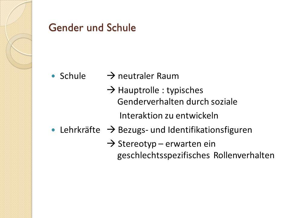 Doing-Gender gesellschaftliche Konstruktion Der Prozess des ständigen geschlechtsbezogenem Denkens und Interagierens wird als Doing-Gender bezeichnet.