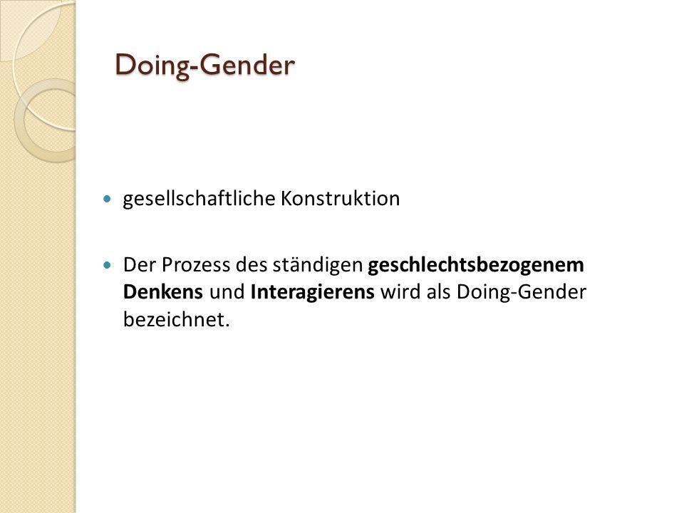 Gender Studies Geschlechterforschung mit dem Schwerpunkt auf wissenschaftlicher Ebene die Bedeutung der Geschlechter in der Gesellschaft zu erforschen Wichtiger Punkt hierbei : Geschlechterblindheit