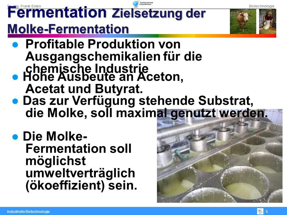 Dr.-Ing. Frank Eiden Biotechnologie Industrielle Biotechnologie: 5 Profitable Produktion von Ausgangschemikalien für die chemische Industrie Hohe Ausb