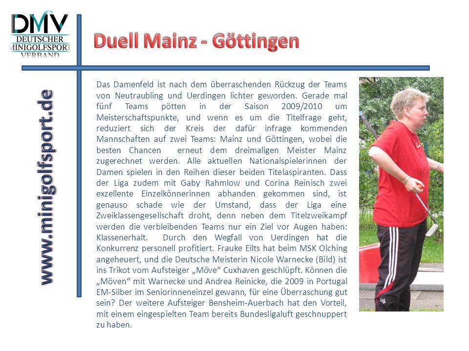 Hardenberger Herren und Mainzer Damen bei der Meisterfeier zum Saisonabschluß 2008/2009 auf einem Bild vereint.