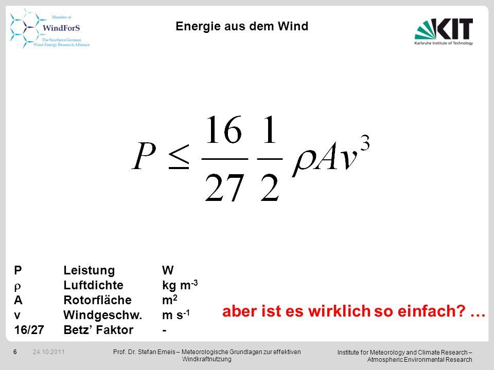 Institute for Meteorology and Climate Research – Atmospheric Environmental Research 7 Meteorologische Phänomene, die die Energieerzeugung aus dem Wind beeinflussen (Erträge und Lasten) PhänomenEinfluss auf ErträgeEinfluss auf Lasten vertikales Windprofilwächst mitwächst mitwachsender Nabenhöhe Inversionendifferentielle Lasten low-level jetsnächtliches Maximumnächtliches Maximum ExtremwindeTurbinenabschaltungextreme Lasten, sofortige Schäden Turbulenzintensität/höhere Erträgehöhere Lasten Varianz der 10 min-verkürzte Nachläufe Mittelwerte vert.