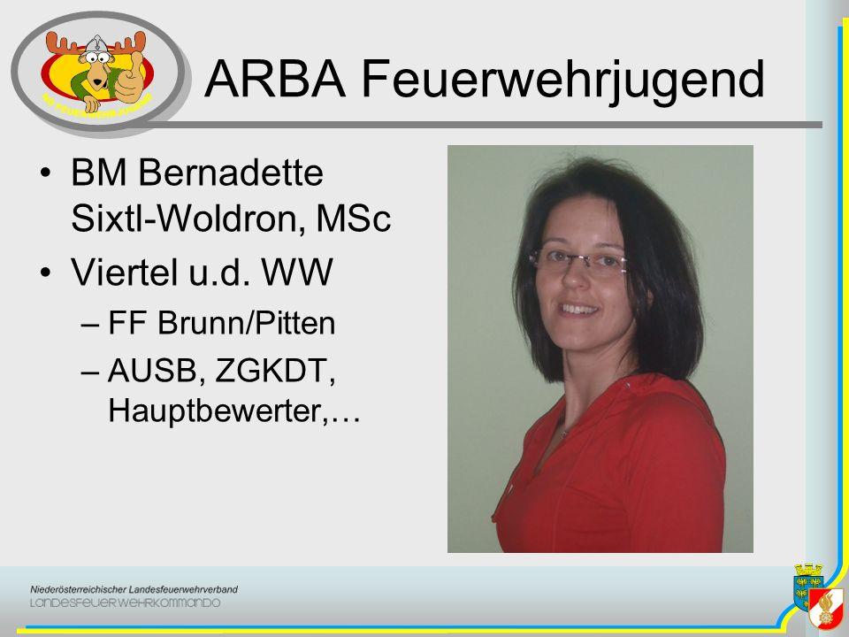 ARBA Feuerwehrjugend BM Bernadette Sixtl-Woldron, MSc Viertel u.d. WW –FF Brunn/Pitten –AUSB, ZGKDT, Hauptbewerter,…