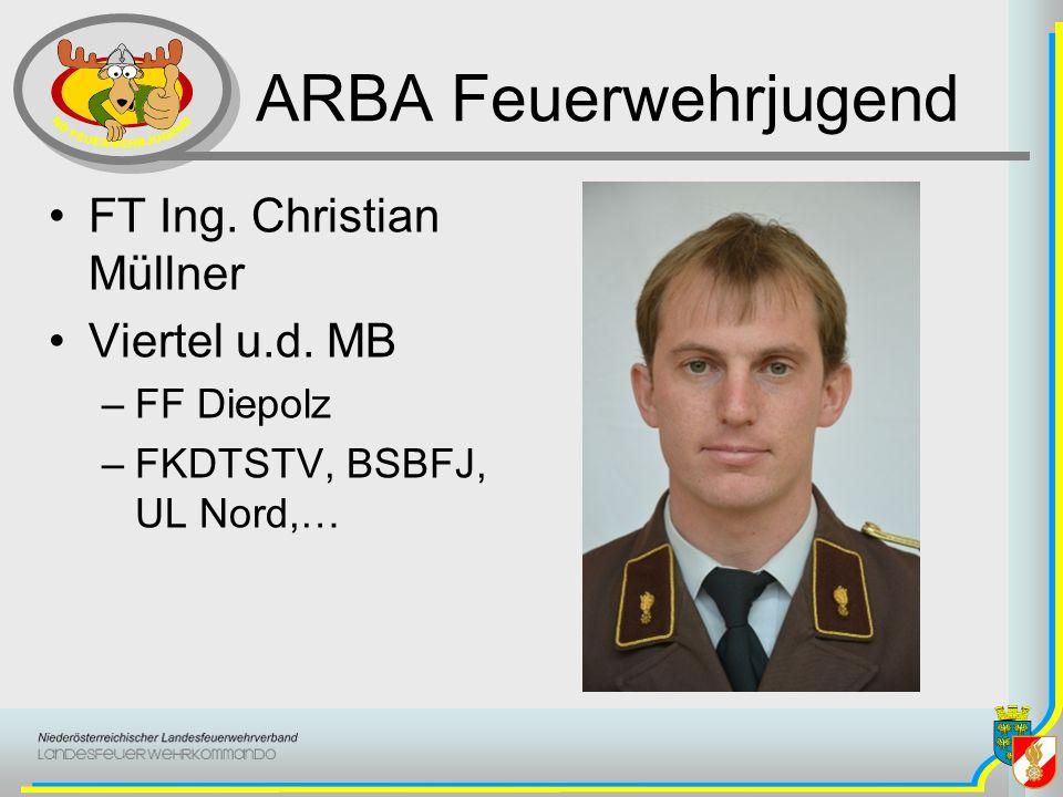 ARBA Feuerwehrjugend FT Ing. Christian Müllner Viertel u.d. MB –FF Diepolz –FKDTSTV, BSBFJ, UL Nord,…