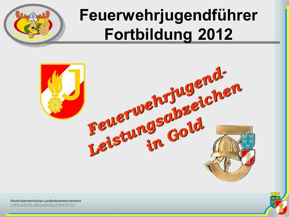 Feuerwehrjugendführer Fortbildung 2012 Feuerwehrjugend-Leistungsabzeichen in Gold in Gold