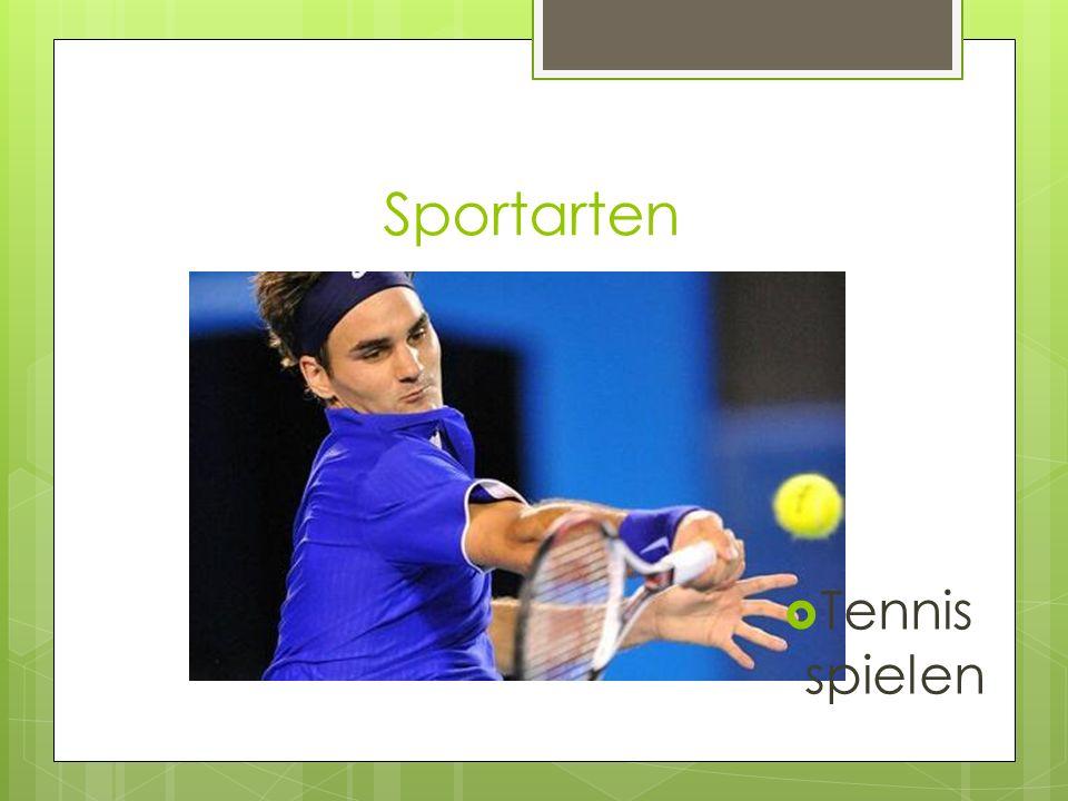 Sportarten Tennis spielen
