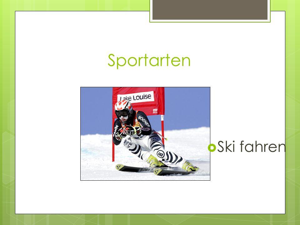 Sportarten Ski fahren