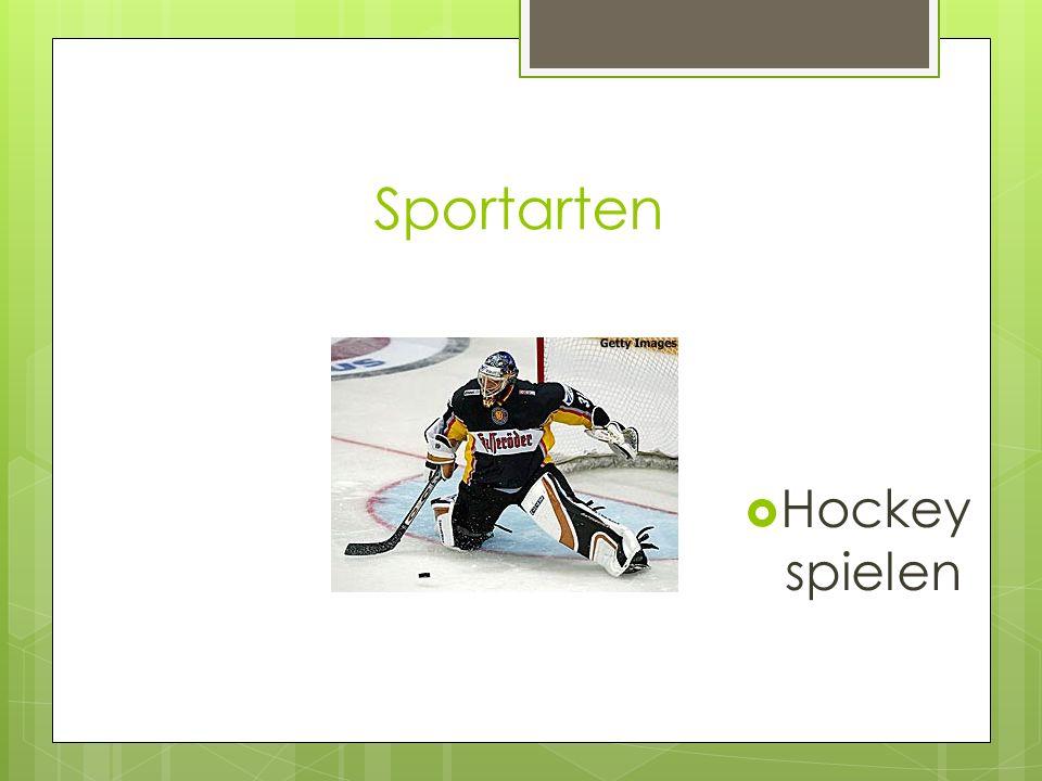 Sportarten Hockey spielen