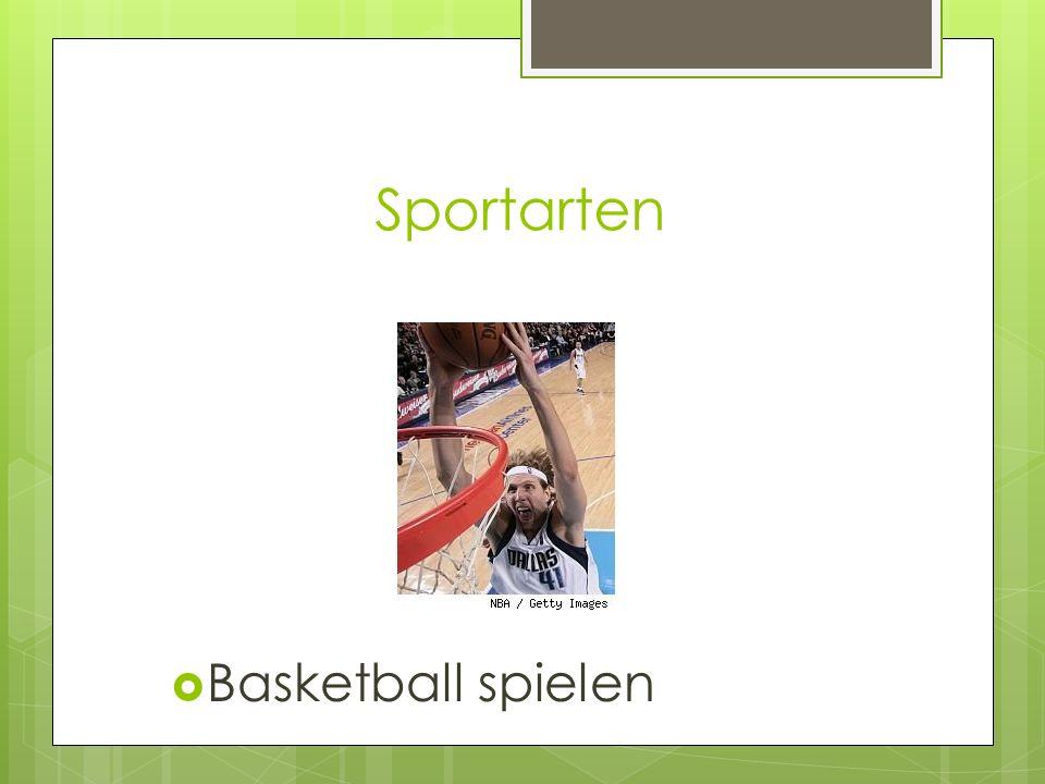 Sportarten Basketball spielen