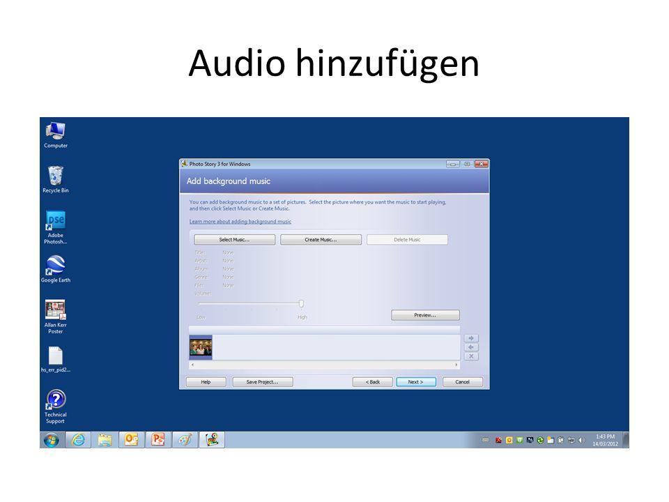Audio hinzufügen