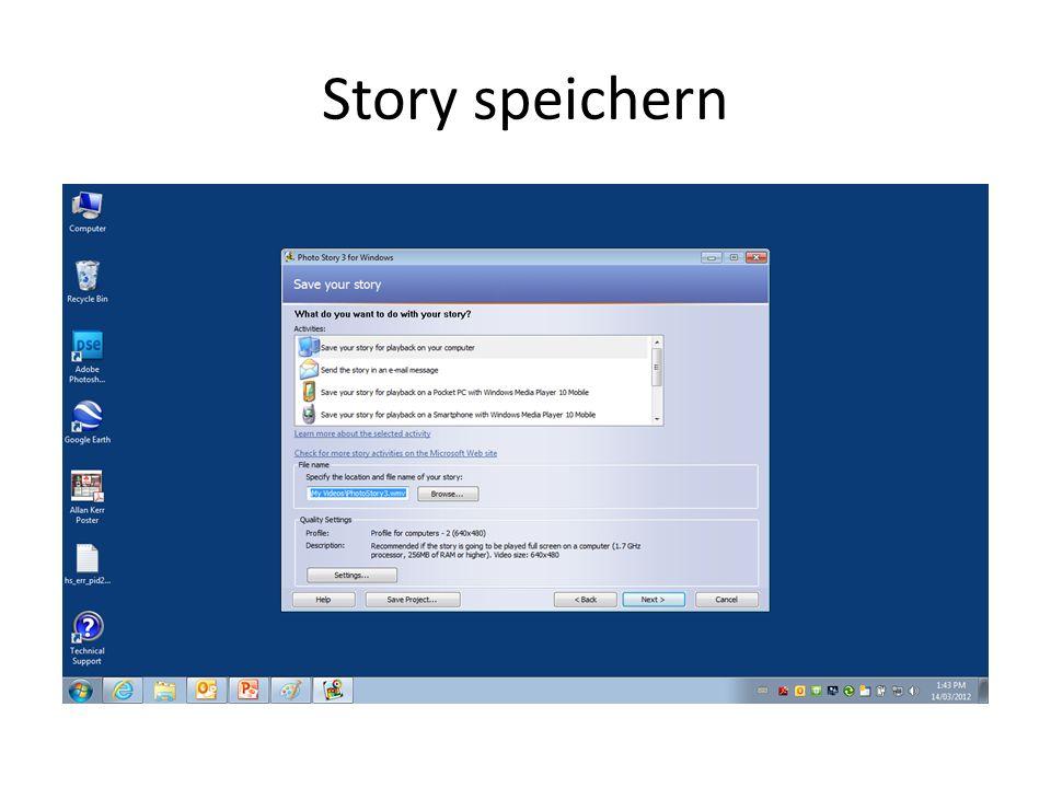 Story speichern