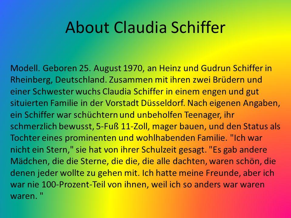 Her Siblings, Parents, and Spouses Claudia Schiffer den Ehepartner hieß Matthew Vaughan, ein Filmproduzent, den sie im Jahr 2002 geheiratet.