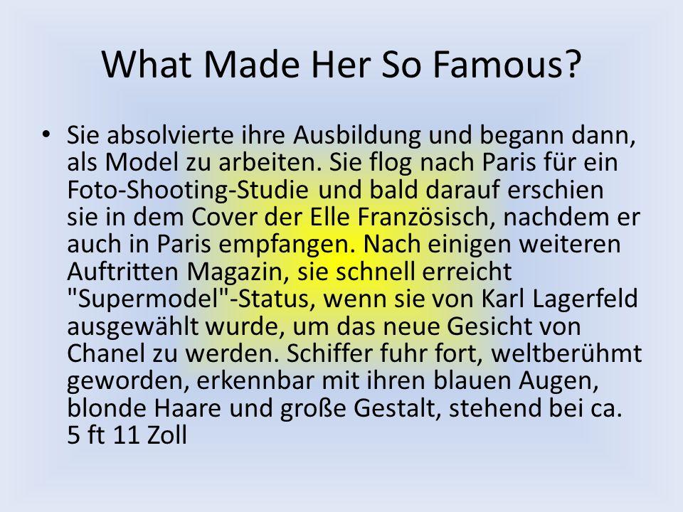 What Made Her So Famous.Sie absolvierte ihre Ausbildung und begann dann, als Model zu arbeiten.
