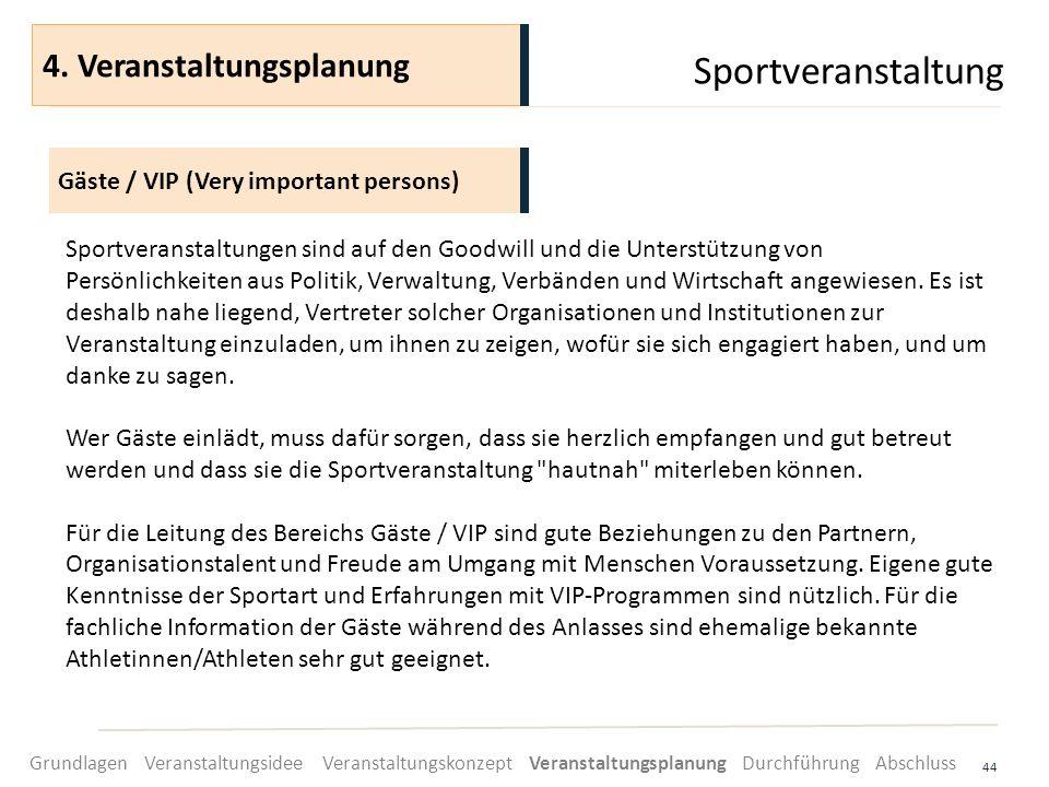 Sportveranstaltung 44 Sportveranstaltungen sind auf den Goodwill und die Unterstützung von Persönlichkeiten aus Politik, Verwaltung, Verbänden und Wir
