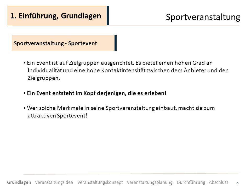 Sportveranstaltung 5 Ein Event ist auf Zielgruppen ausgerichtet. Es bietet einen hohen Grad an Individualität und eine hohe Kontaktintensität zwischen
