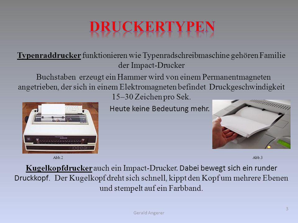 Typenraddrucker funktionieren wie Typenradschreibmaschine gehören Familie der Impact-Drucker Buchstaben erzeugt ein Hammer wird von einem Permanentmag