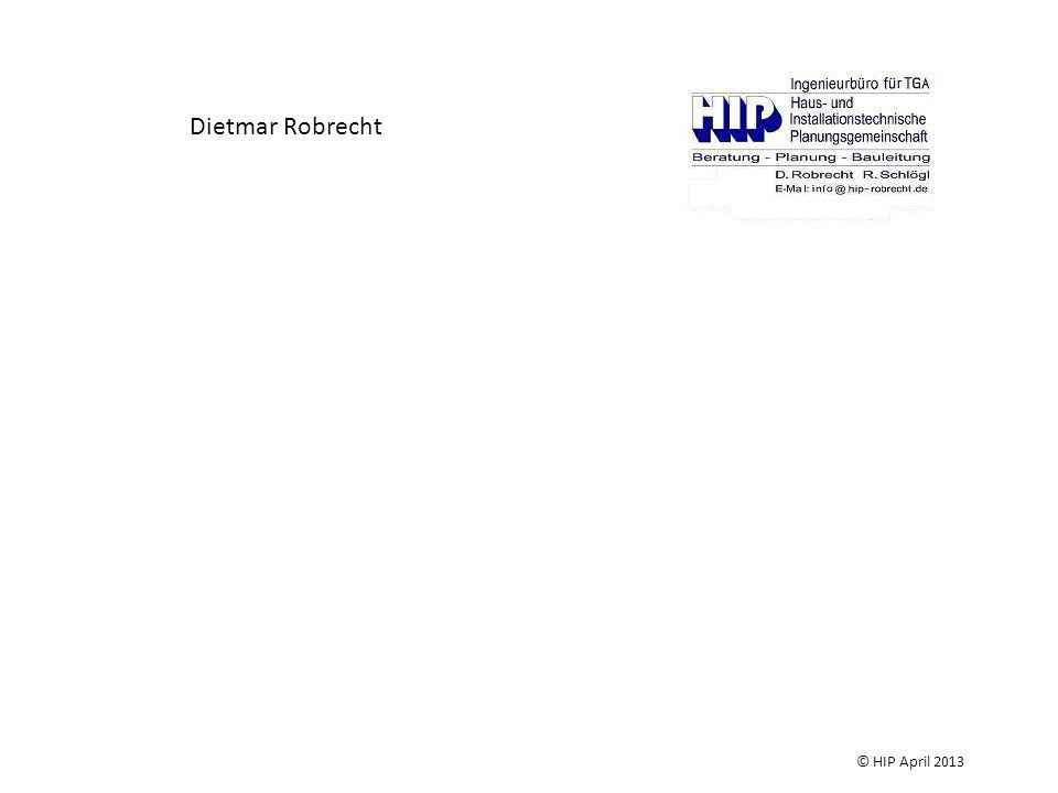 Dietmar Robrecht Das Ing.-Büro HIP ist seit 25 Jahren im Bereich der TGA-Planung, Bauüberwachung und Projektsteuerung tätig.