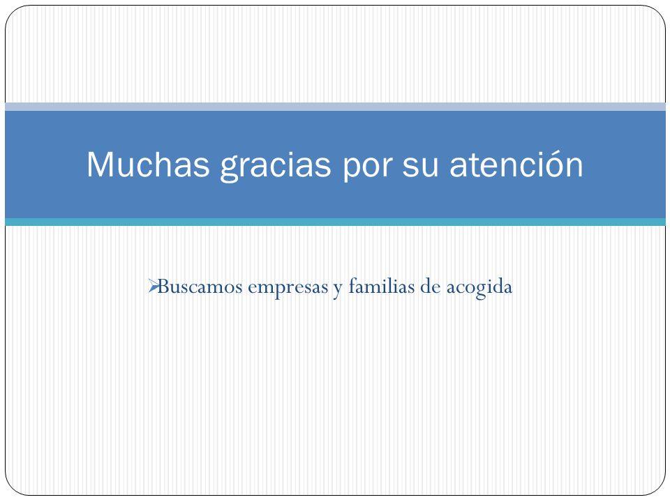 Buscamos empresas y familias de acogida Muchas gracias por su atención