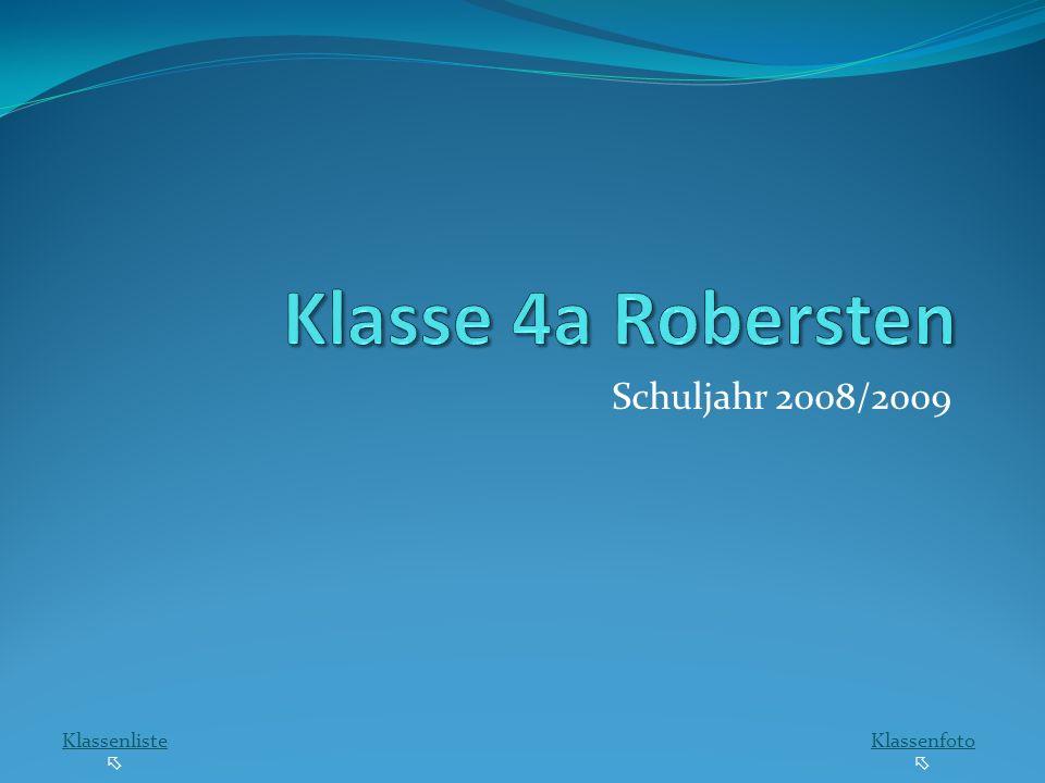 Schuljahr 2008/2009 Klassenliste Klassenfoto
