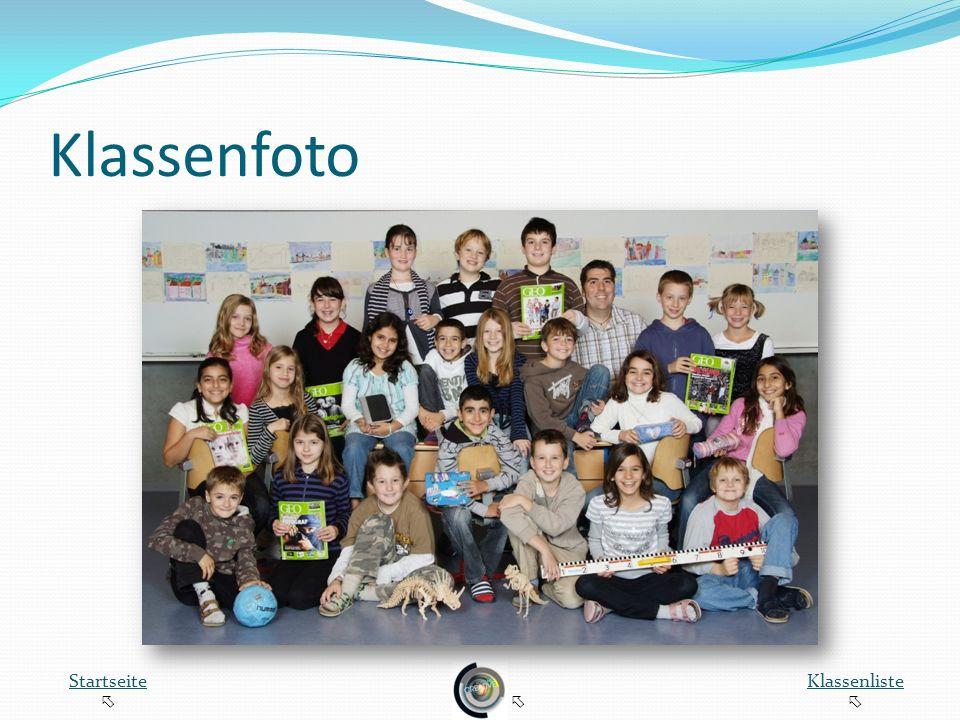 Klassenfoto Startseite Klassenliste