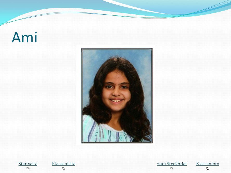 Ami Startseite Klassenliste zum Steckbrief Klassenfoto