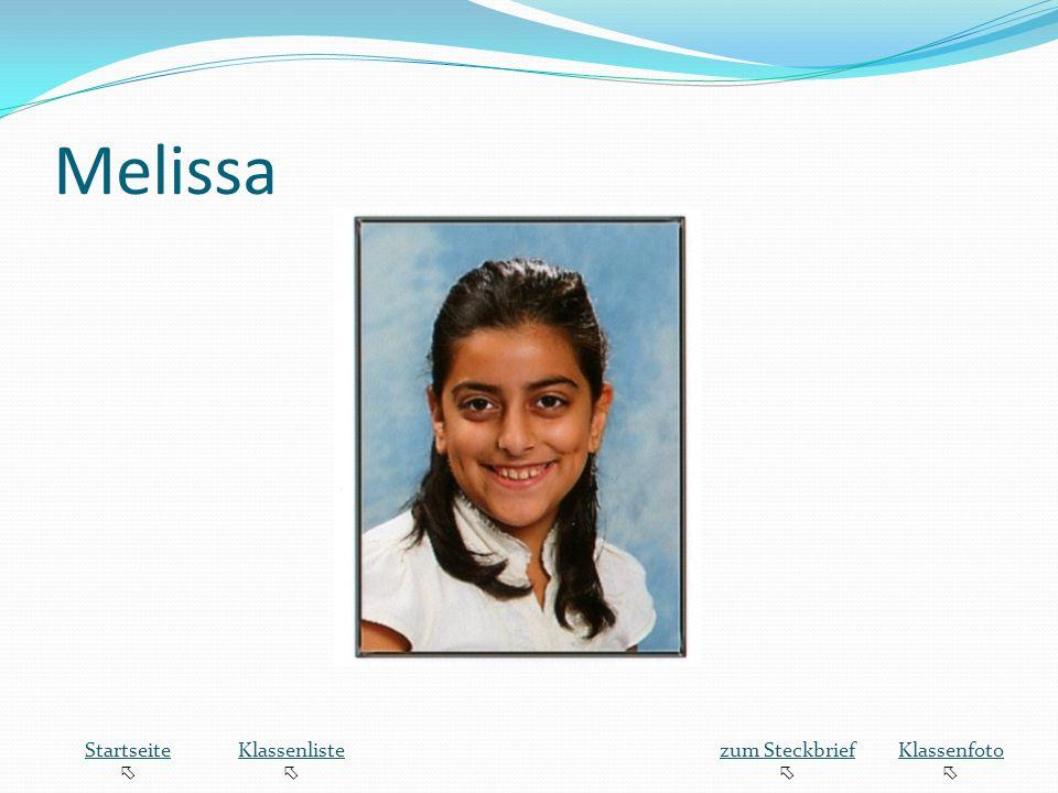 Melissa Startseite Klassenliste zum Steckbrief Klassenfoto