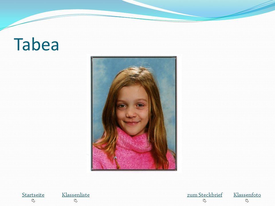 Tabea Startseite Klassenliste zum Steckbrief Klassenfoto