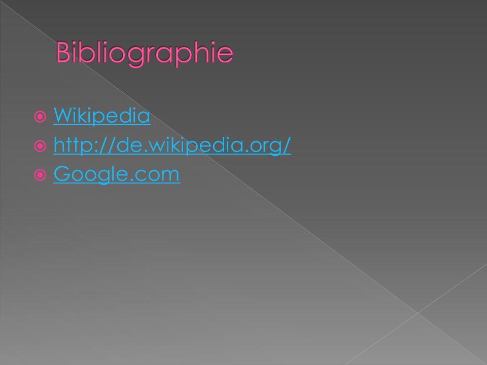 Wikipedia http://de.wikipedia.org/ Google.com