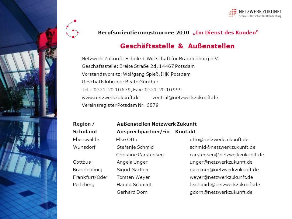 Netzwerk Zukunft. Schule + Wirtschaft für Brandenburg e.V.