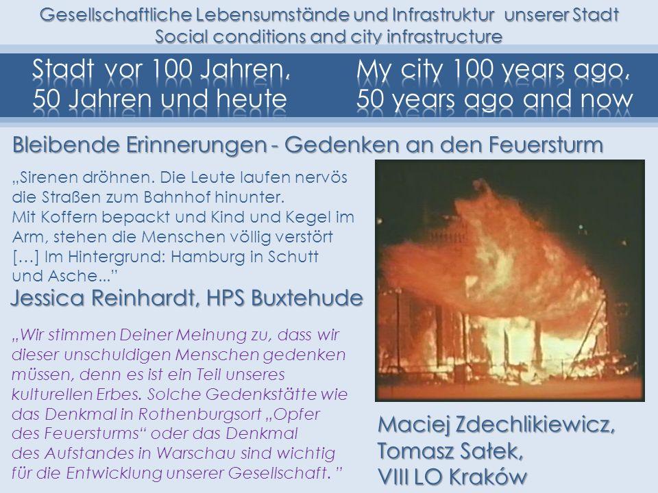 Gesellschaftliche Lebensumstände und Infrastruktur unserer Stadt Social conditions and city infrastructure Jessica Reinhardt, HPS Buxtehude Sirenen dr