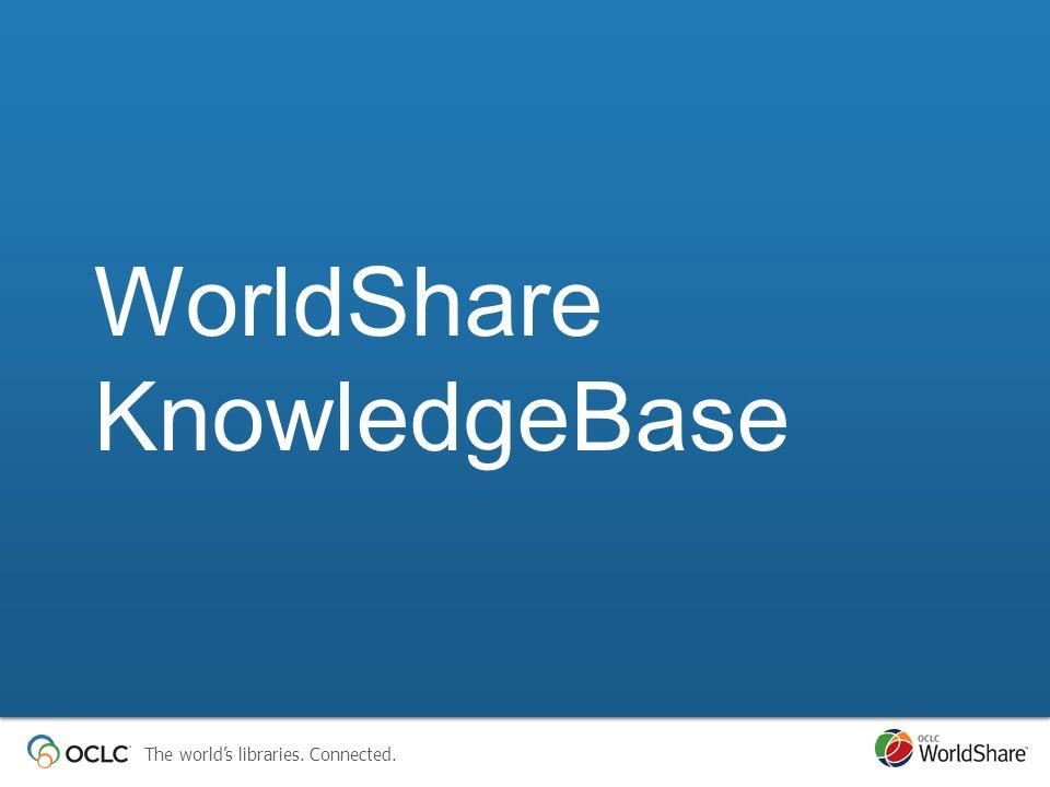 WorldShare KnowledgeBase