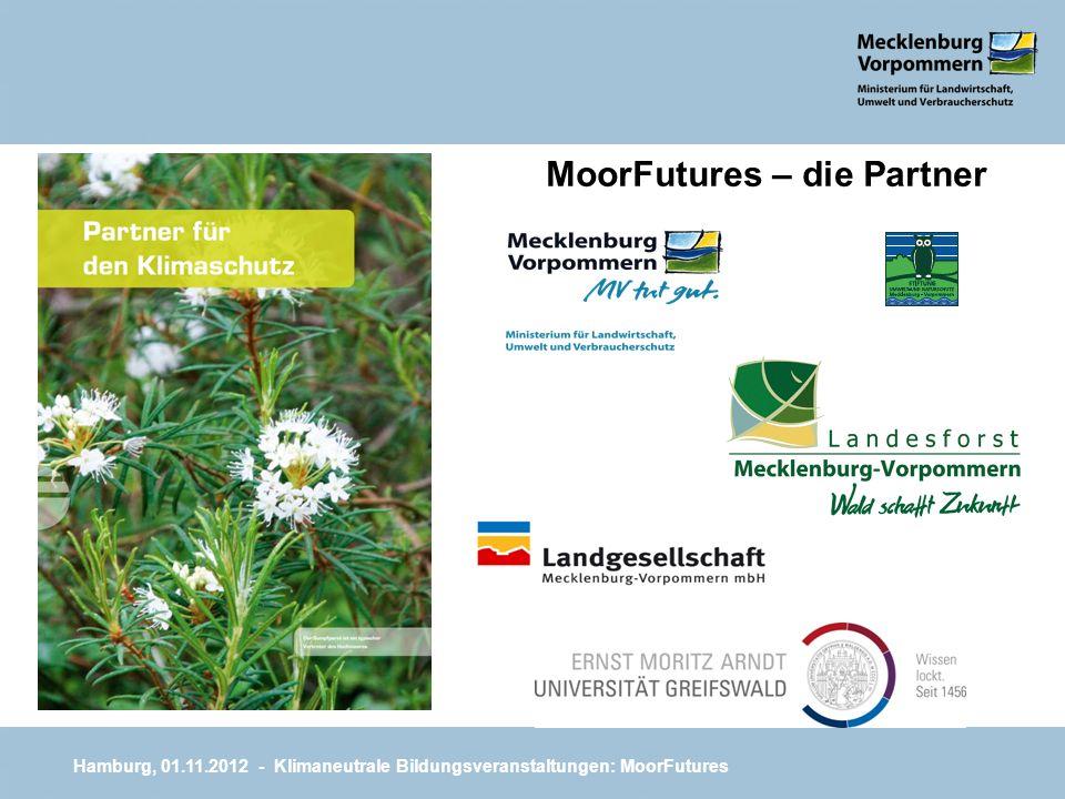 MoorFutures – die Partner Hamburg, 01.11.2012 - Klimaneutrale Bildungsveranstaltungen: MoorFutures