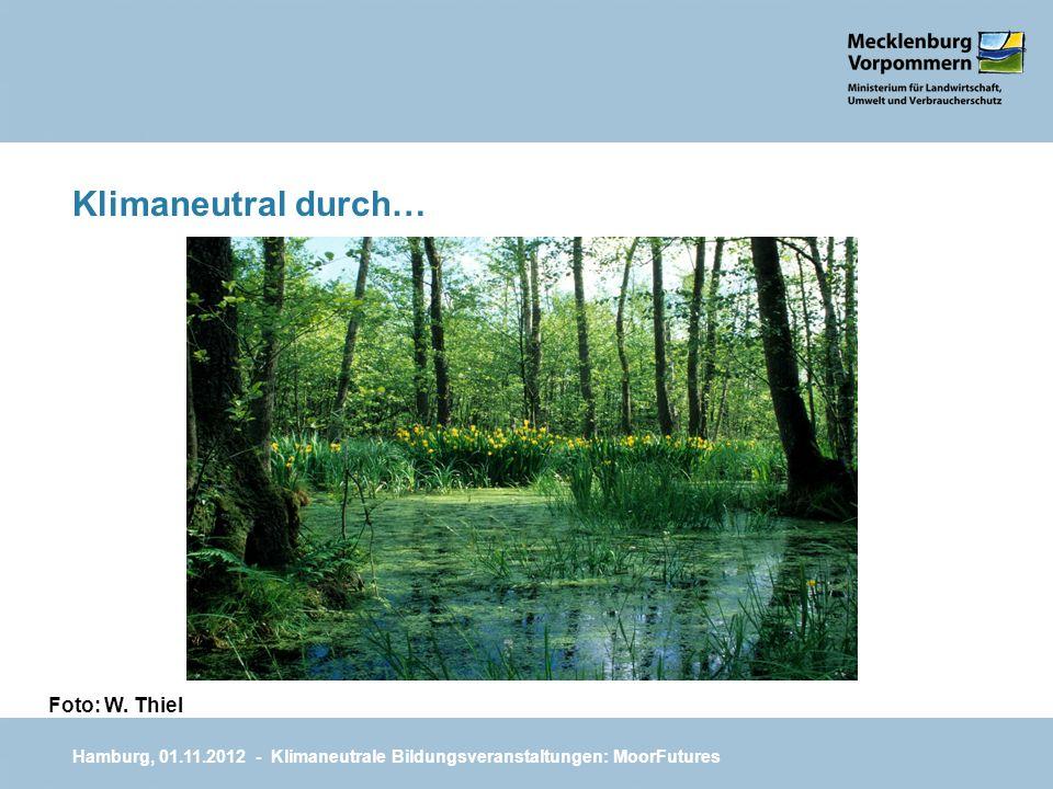 Klimaneutral durch… Hamburg, 01.11.2012 - Klimaneutrale Bildungsveranstaltungen: MoorFutures Foto: W. Thiel