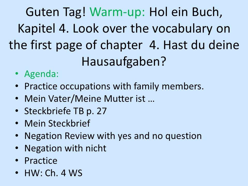 Seite 26 # 2 Wie heisst die Person auf Foto A.– Sie heisst Brigitte Vogelmann.