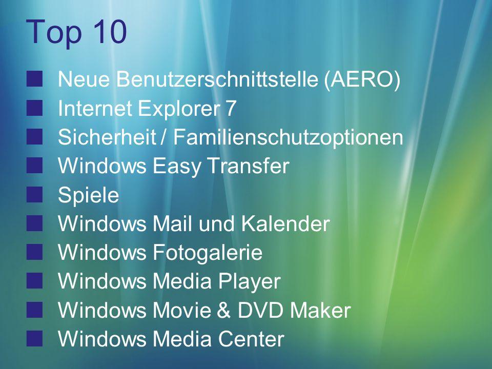 Windows Media Center Verbesserte Navigation & Benutzerschnittstelle Optimiert für widescreen 2x mehr information mit horizontalem Bildlauf HDTV (Kabel) Unterstützung Satellitenunterstützung Extenders XBOX 360 V.2 Extenders (PIKA)