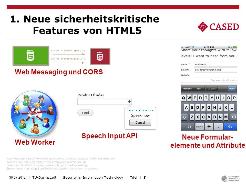 30.07.2012 | TU-Darmstadt | Security in Information Technology | Titel | 6 2.
