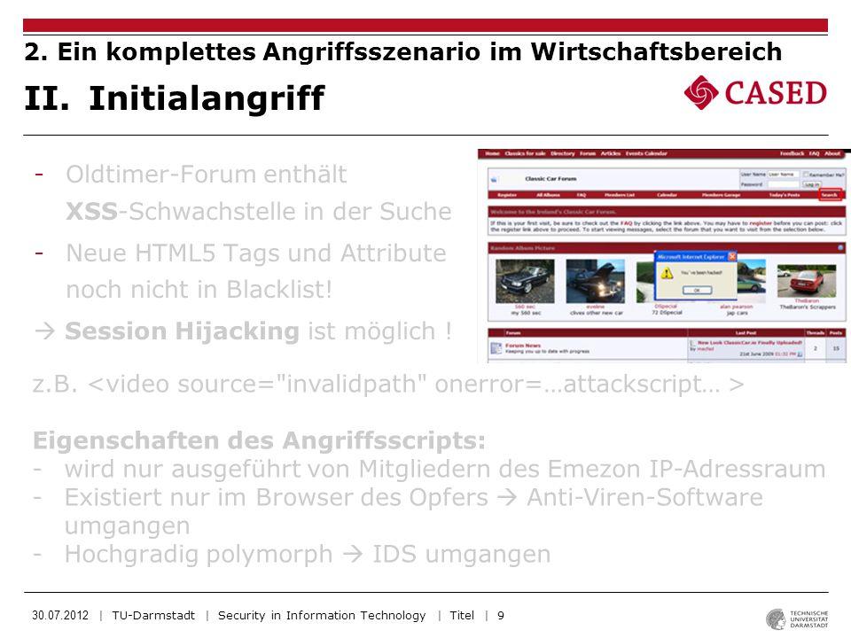 30.07.2012 | TU-Darmstadt | Security in Information Technology | Titel | 10 III.