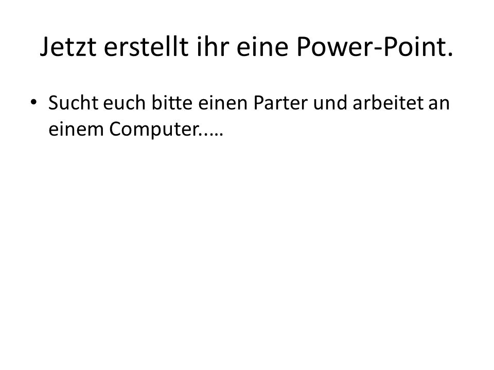 Basics of a power point