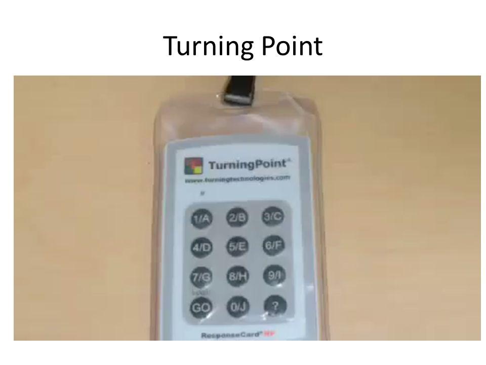 Immer noch nicht Interaktive genug? Dann benutzt Turning Point. (Durfte ich nicht mitbringen )