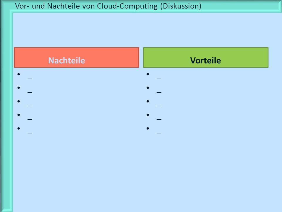 Nachteile _ Vorteile _ Vor- und Nachteile von Cloud-Computing (Diskussion)