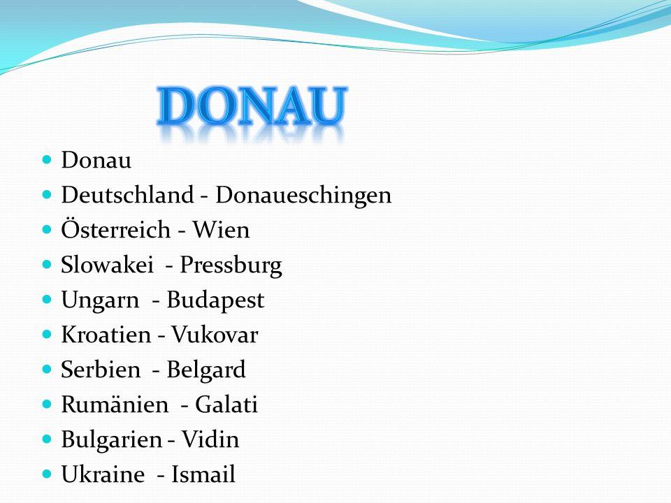 Die Donau ist mit einer mittleren Wasserführung von rund 6700 m³/s und einer Gesamtlänge von 2857 Kilometern[1] nach der Wolga der zweitgrößte und zweitlängste Strom in Europa.